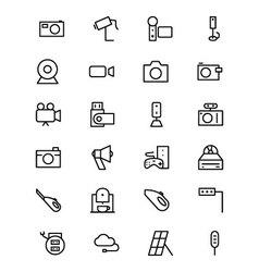 Electronics line icons 5 vector