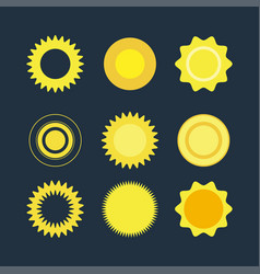 flat set of suns vector image