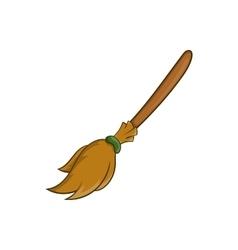 Halloween accessory broom icon cartoon style vector
