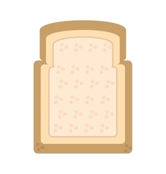 halved bread bakery breakfast design vector image vector image