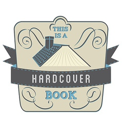 Hardcover book vector