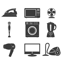Household appliance icon set vector image vector image