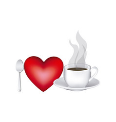 image color with lovers of hot coffee drink vector image vector image