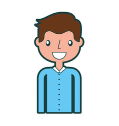 Isolated handsome icon vector