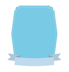 Label decoration ribbon icon vector