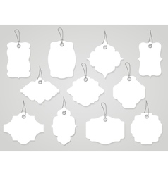 labels and tags vector image vector image