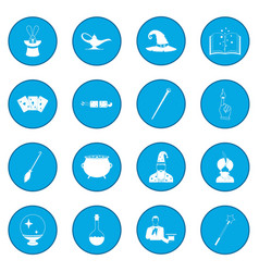 Magic icon blue vector