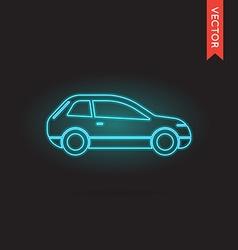 Neon car icon car icon car icon object car icon vector