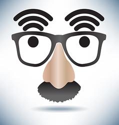 Network hot spot icon face vector