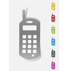 realistic design element old mobile phone vector image
