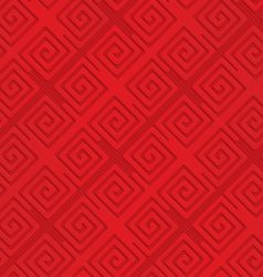 Red diagonal square spirals vector image vector image