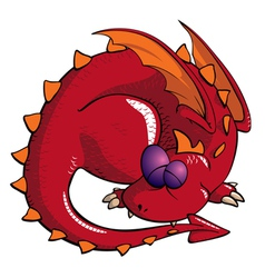 Sleeping dragon vector