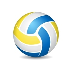 Volleyball isolated on white vector image