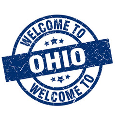 Welcome to ohio blue stamp vector