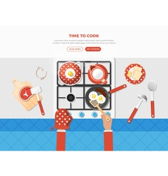 Cooking Top View Poster vector image