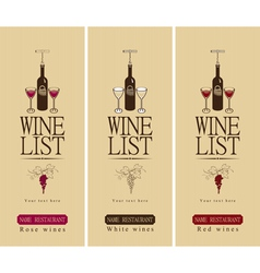Three wine vector