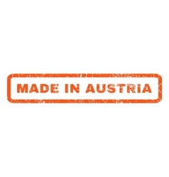 Made in austria rubber stamp vector