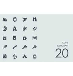 Set of bushcraft icons vector