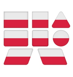 Buttons with flag of poland vector