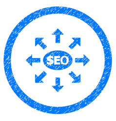 Seo marketing rounded grainy icon vector