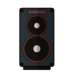 Speaker music instrument vector