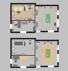 04 house plan v vector
