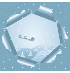 Christmas background through paper vector