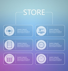 Stylized icons for online store service vector image