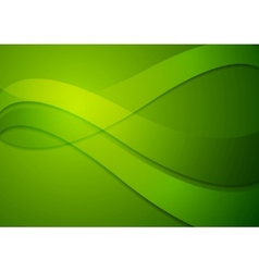 Bright green wavy background vector
