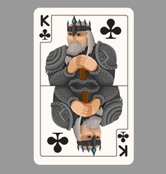 King of clubs playing card vector