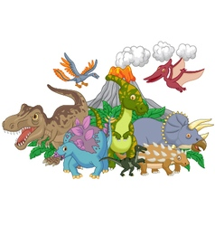 Cartoon character dinosaur vector