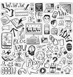 Web doodles set vector