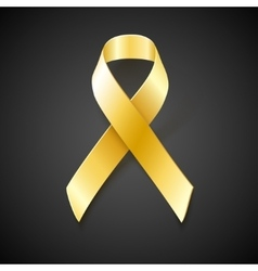 Childhood Cancer Awareness gold ribbon vector image