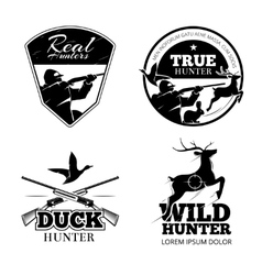 Hunting club labels and emblems set vector