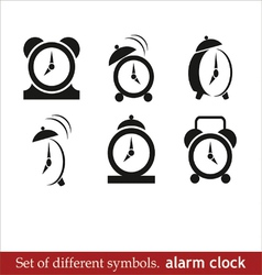 alarm clock black icons vector image