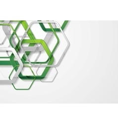 Abstract bright geometric tech hexagon shapes vector