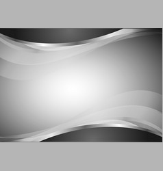 abstract geometric wave black and white vector image vector image