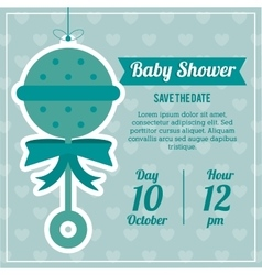 Baby shower design maraca icon graphic vector