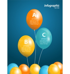 balloon infographic vector image vector image