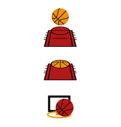 basketball2 vector image vector image