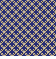 Blue background with intertwined rings seamless vector