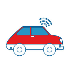 Car vehicle with wifi signal vector