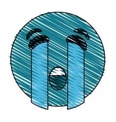 Crying eyes emoji icon image vector