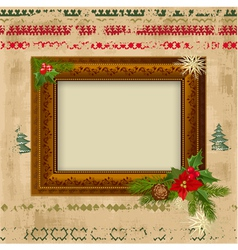 Decorative christmas frame design vector