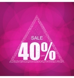 Discount the best offer with confetti on the sale vector