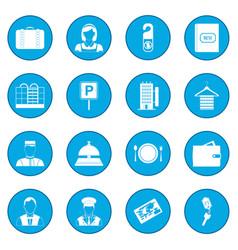 hotel icon blue vector image