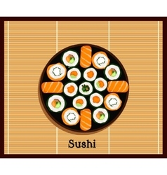 Japanese Food Sushi Design Flat vector image