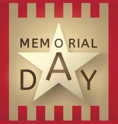 Memorial day retro background vector