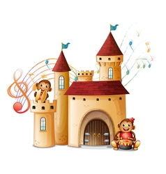 Monkeys in the castle vector image vector image