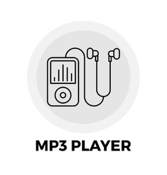 MP3 Player Line Icon vector image